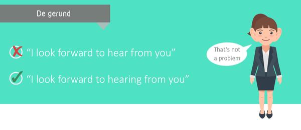 De Gerund: hele werkwoord + ing, de taaltrainer