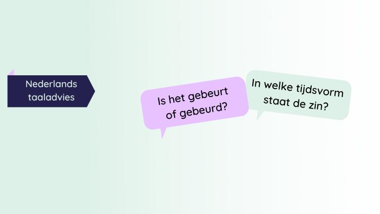Gebeurt of gebeurd, de Taaltrainer, Nederlands taaladvies
