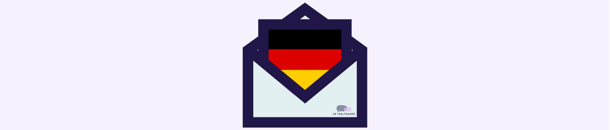 Zakelijk e-mailen in het Duits, de taaltrainer
